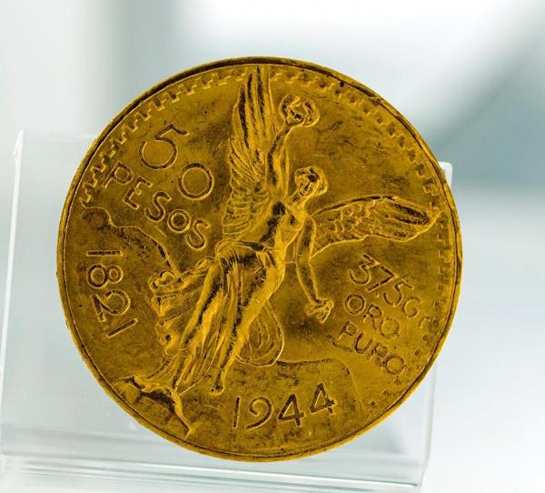 d7616f84a94 MOEDA EM OURO 50 PESOS MEXICANOS DE 1821