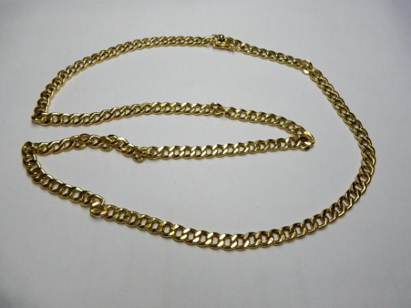dd77c971950 ITALY - Impecável corrente em ouro 18 k 750 com malha de excepcional  ourivesaria estilo Groumet medindo 68 cm de comprimento em perfeito estado  de ...