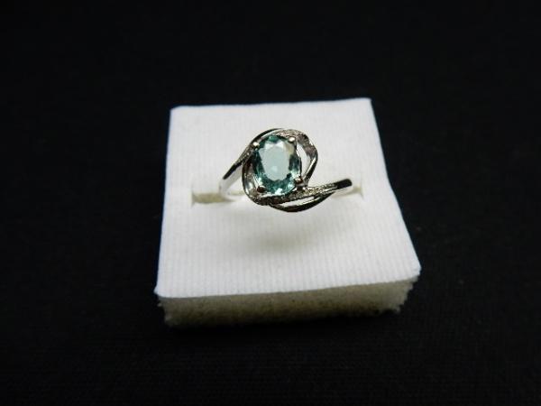 2121c3fc6f6 TURMALINA - Belíssimo anel em ouro branco 18 k 750 com preciosa Turmalina .