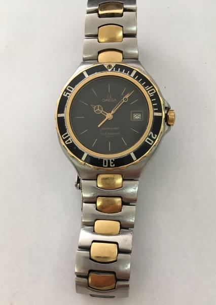 da3ab8af96e Relógio Omega Seamaster Professional 200m (pré Bond) (suiço) de aço e ouro