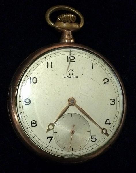 9b9560203d4 OMEGA-Antigo relógio de bolso suíço