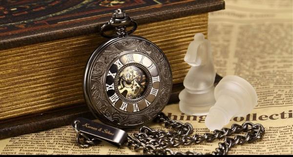 27119591d8d KRONEN   SOHNE - Raro relógio de bolso automático Proj