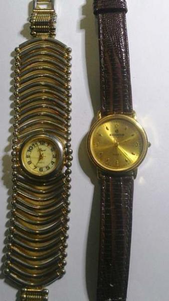 d5d99c0146b Par de antigos relógios - MORITA JAPONES E PEARL QUARTZ THAILAND - Não  testados .