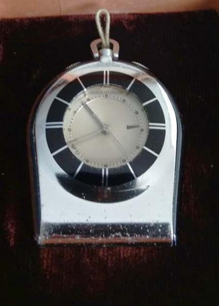 848a755bf2a RARIDADE - Relógio de mesa JAEGER LE COULTRE - numerado 728910 - Década de  70 - duas faces . Funcionando