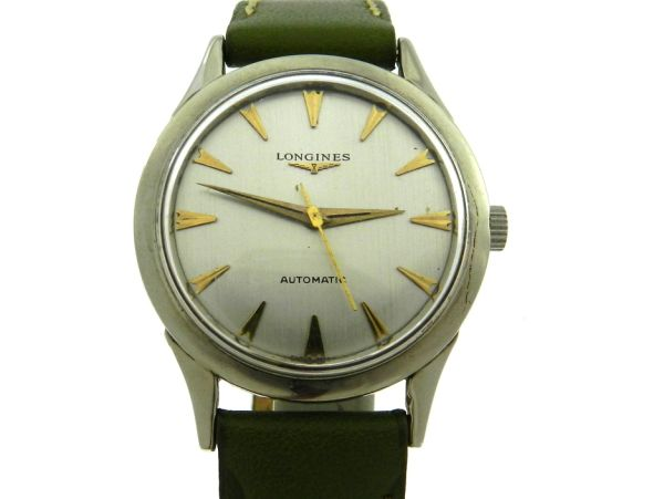 153e2e73e99 Relógio Longines Automatic - Caixa em aço e pulseira em couro - Tamanho da .