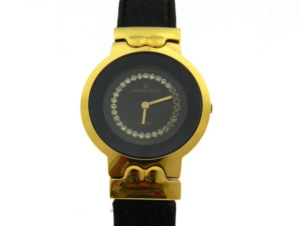 4903dadbd3e Relógio Universal geneve - Caixa em aço com plaque de ouro e pulseira em  couro .