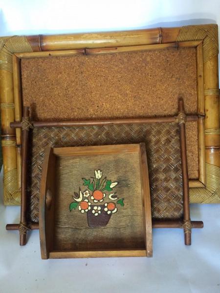 Trio de bandeija em bambu 99f32807f57