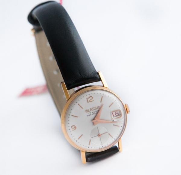 3d3d0c1254f Relógio Classic (suiço. Modelo climatizado com corda inquebrável) em  plaquet de ouro