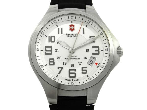 6a45ad5734c Relógio VictorInox Swiss Army - Caixa em aço e pulseira borracha - Tamanho  da .