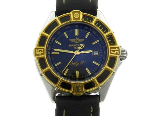 678317e6d56 Relógio Breitling Lady J - Caixa em aço e ouro 18k - Pulseira em couro - .