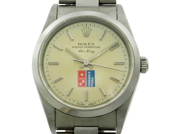 2c3f2634708 Relógio Rolex AirKing Dominos Pizza - Caixa e pulseira em aço - Tamanho da  caixa 34mm - Funções  Horas