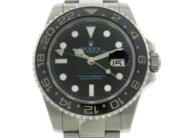 26d308c79ce Relógio Rolex GMT Master II Aro em Cerâmica - Caixa e pulseira em aço -  Bezel em cerâmica - Tamanho da caixa 40mm - Funções  Horas
