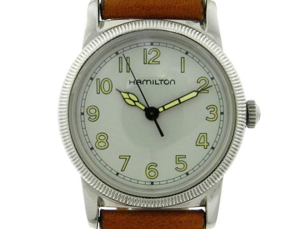 0bc1a37ed4e Relógio Hamilton estilo vintage WW2 - Modelo 9715 - Caixa em aço e pulseira  em couro. Tamanho da caixa 32mm. Funções  Horas