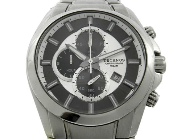 b871503d5fc Relógio Technos Cronógrafo - Caixa e pulseira em aço -Tamanho da Caixa 46mm  - Funções  Horas
