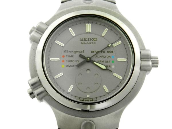 48a2c7f238a Relógio Seiko Chronograph Sports 150 - Caixa e pulseira em aço - Tamanho da  .