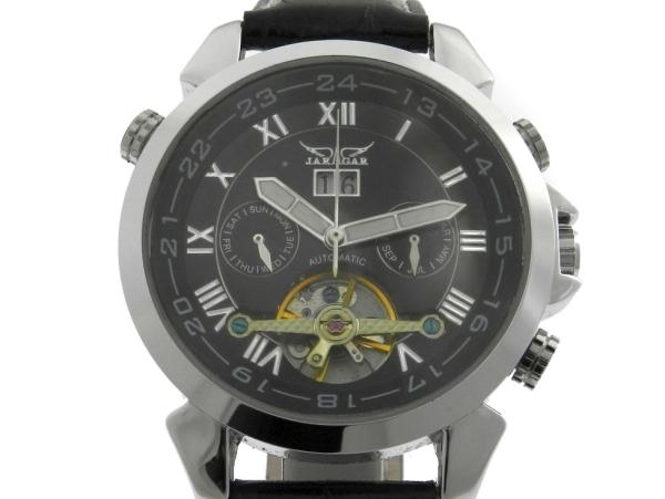 7ea60f147d4 Relógio Jaragar - Caixa em aço e pulseira em couro - Tamanho da caixa 44mm  - Funções  Horas