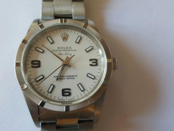 4664937b2c2 Rolex Airking de aço. Bracelete oyster original em excelente estado de  conservação e funcionamento.