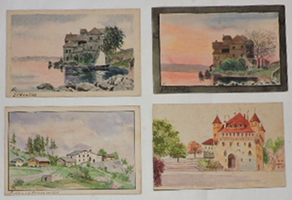 Lote contendo 4 cartões postais com representações bucólicas b49884ec967