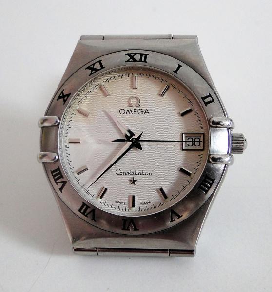 759caadc2c2 relógio omega constellation quartz com calendário