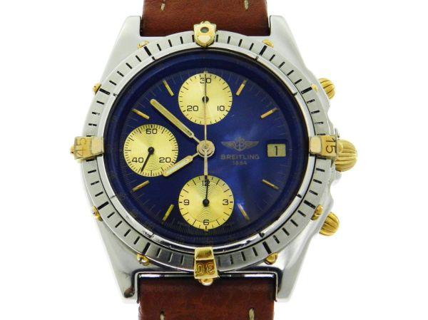 fd9376b333a Relógio Breitling Chronomat - Caixa em aço e ouro pulseira em couro -  Tamanho .