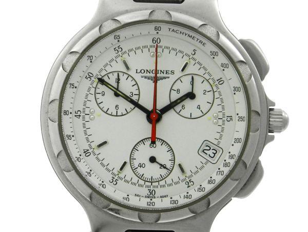 4b9334bfd31 Relógio Longines Conquest Chronograph - Caixa e pulseira em aço - Tamanho  da .