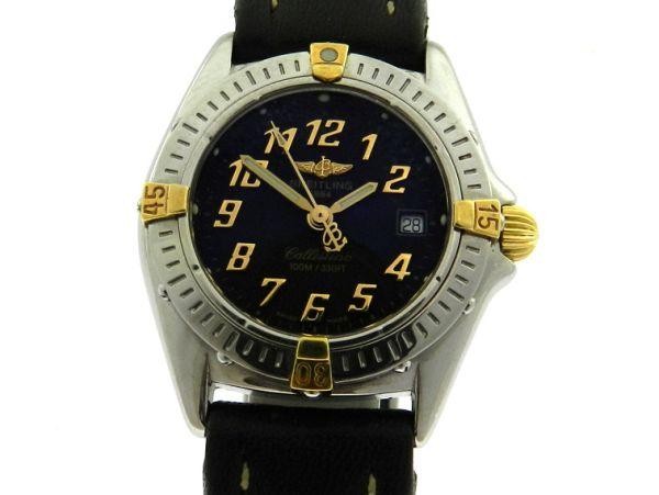 ffbbc825e5c Relógio Breitling Callistino - Caixa em aço e pulseira em couro - Tamanho  da .