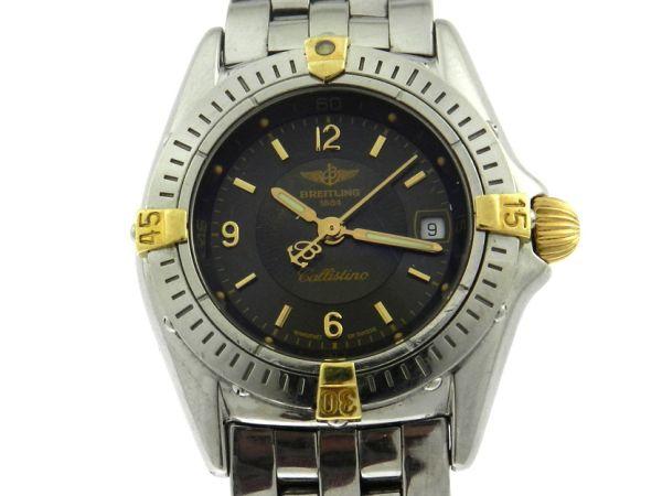 c2467090917 Relógio Breitling Callistino - Caixa e pulseira em aço e ouro - Tamanho da .