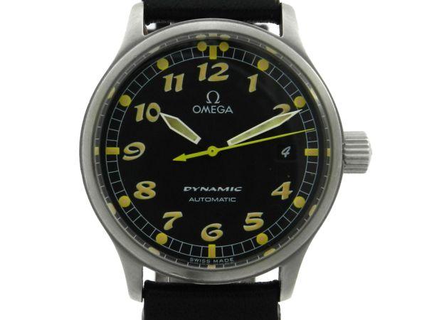 40892017e41 Relógio Omega Dynamic - Caixa em aço e pulseira em couro - Tamanho da caixa  .