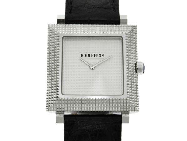 413816d0975 Relógio Boucheron Classique - Caixa em ouro branco 18k 750 - Tamanho da  caixa  29mm x 29mm (Sem contar garras ou coroa) - Funções  Horas e Minutos  - .