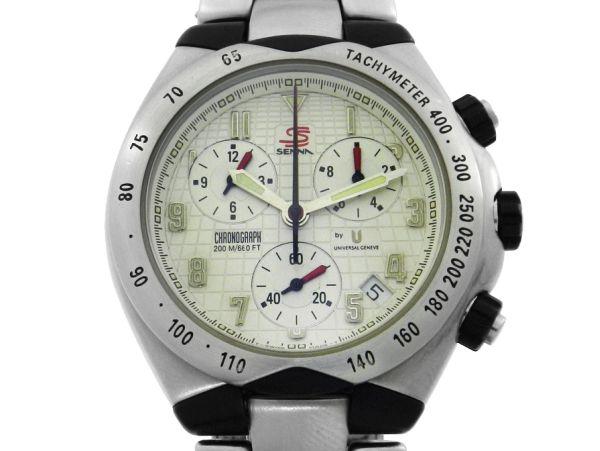 27e02146d38 Relógio Universal Geneve Senna Cronógrafo - Caixa e pulseira em aço e fibra  de carbono - Tamanho da caixa 41mm - Funções  Horas