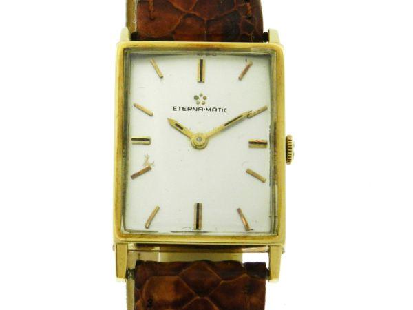 84cee4b2fa5 Relógio Eterna Matic - Caixa em Ouro 18k 750 e pulseira em couro - Tamanho  da
