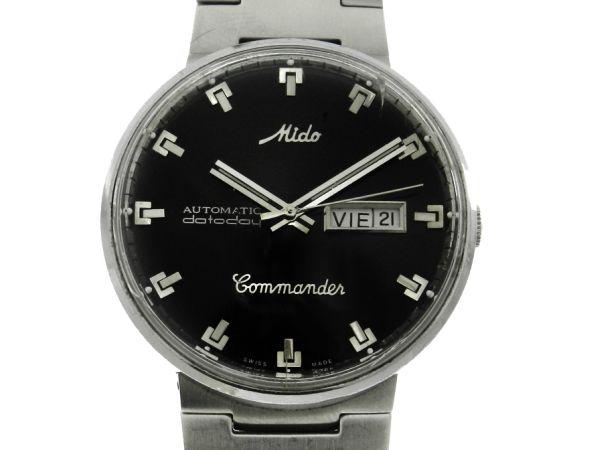 ee142955600 Relógio Mido Commander - Caixa e pulseira em aço - Tamanho da caixa 39mm -  Funções  Horas