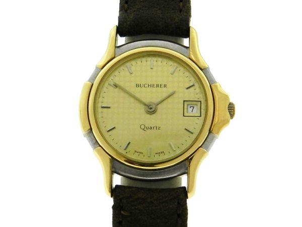 f108463b654 Relógio Bucherer - Caixa em aço e ouro - Pulseira em co