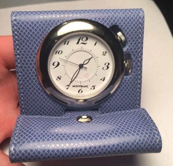 c76ecfacaed MONT BLANC - Relógio de Bolso em metal espessurado a prata acondicionado em  .
