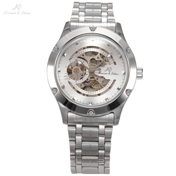 ffd2356e5ab Relógio Kronen   Sohne skeleton caixa e pulseira em aço maquinário a mostra  T