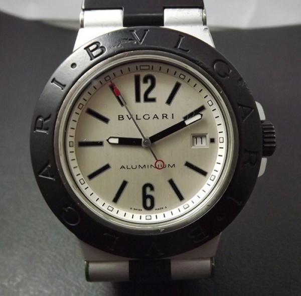 b2abbc8875f Relógio Bulgari em Aluminío e borracha