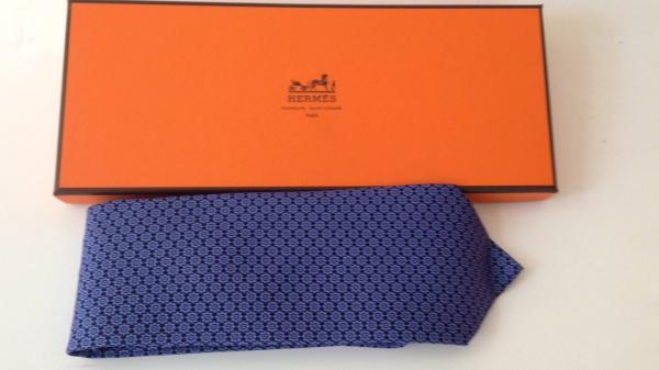 8d961087ed634 Gravata Hermès Estampa engrenagens na Caixa Original Nunca Usada
