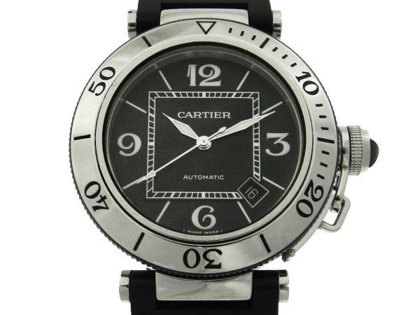 480d6d7a430 Relógio Cartier Pasha Seatimer Automatic - Caixa em aço - Pulseira em  borracha - Tamanho da caixa 40mm - Funções  Horas
