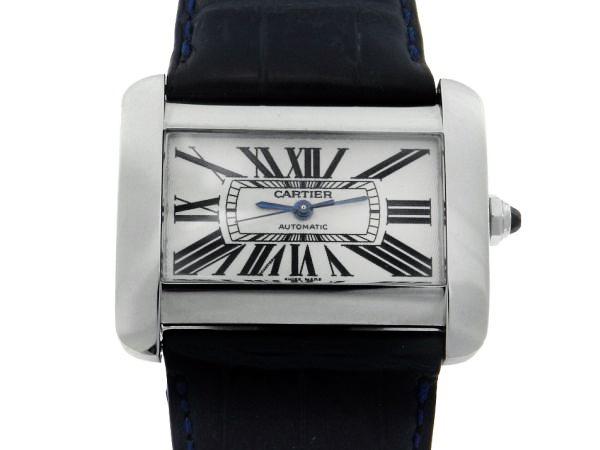 ff29dc35074 Relógio Cartier Tank Divan - Caixa em Aço - Pulseira em couro - Tamanho da  caixa  38mm x 24mm ( Sem contar a coroa ou garras) - Funções  Horas