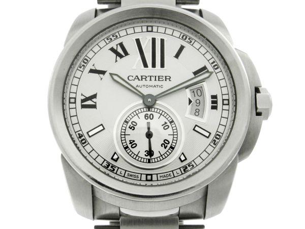 98e2599be4a Relógio Cartier Calibre Automatic 3389 - Caixa e pulseira aço - Tamanho da  caixa 42mm - Funções  Horas