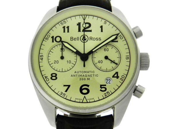 cc03b15c4ef Relógio Bell   Ross Vintage 126 Cronógrafo - Caixa em aço - Pulseira em  couro - .