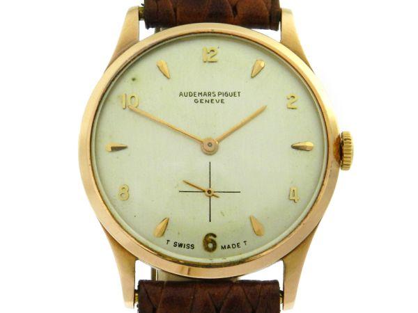 47052833322 Relógio Audemars Piguet - Classic - Caixa em ouro amarelo 18k 750 - Pulseira  em couro - Tamanho da caixa  32mm - Funções  Horas