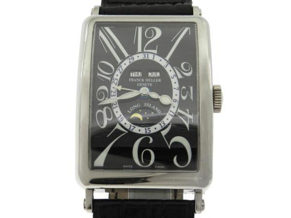 693954ba704 Relógio Franck Muller Long Island - Master calendar - Moon Phase -  Referencia 1200 MC L - Caixa em ouro branco 18k - Pulseira em couro -  Tamanho da .