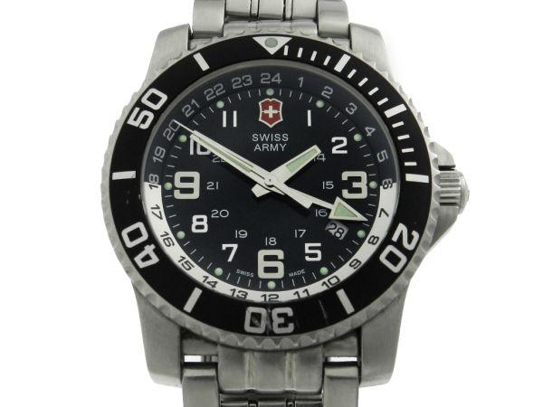23fe7f5796e Relógio Swiss Army - Caixa e pulseira em aço - Tamanho da caixa 43mm -  Funções  Horas