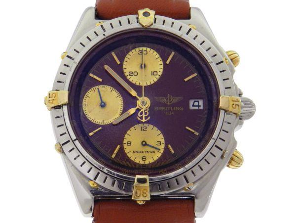 20d776102fd Relógio Breitling Chronomat - Caixa em aço e ouro - Pulseira em couro -  Tamanho da caixa 40mm - Funções  Horas