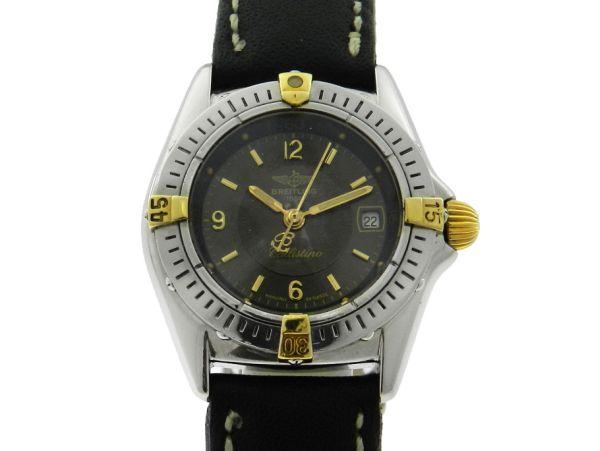 84251bf415a Relógio Breitling Callistino - Caixa em aço e ouro - Pulseira em couro -  Tamanho da caixa 28mm - Funções  Horas