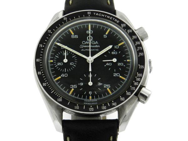 33d55ebd6ac Relógio Omega Speedmaster - Caixa em aço e pulseira em couro - Tamanho da caixa  39mm - Funções  Horas