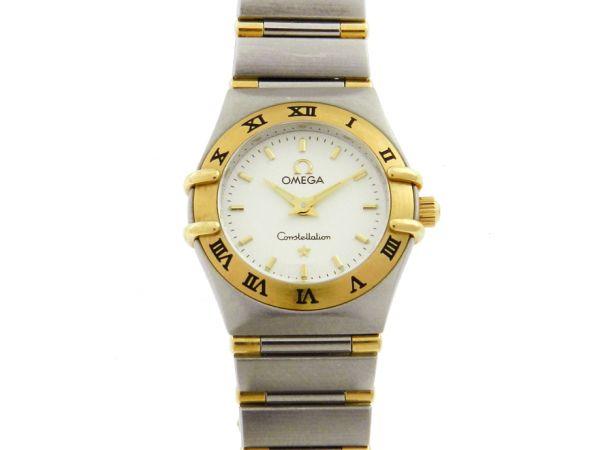 df3a2b07c93 Relógio Omega Constellation - Caixa e pulseira em aço e ouro - Tamanho da  caixa 23mm - Funções  Horas e Minutos - Movimento quartz - Visor em cristal  de ...