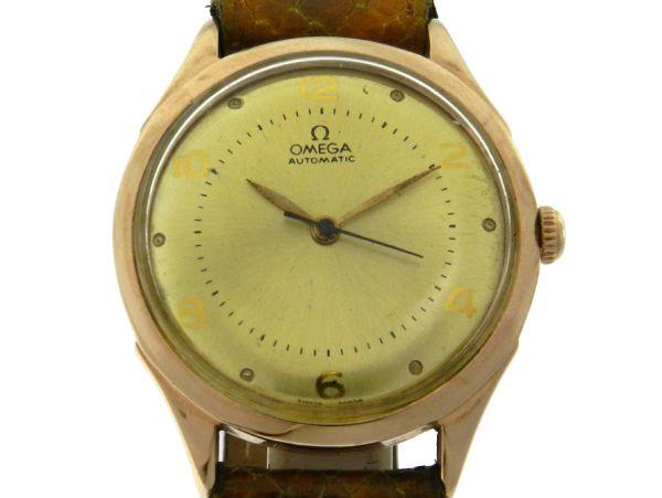 1cfd236dec6 Relógio Omega Automático Classic Vintage - Caixa em plaque de ouro -  Pulseira em couro - Tamanho da caixa  35mm - Funções  Horas