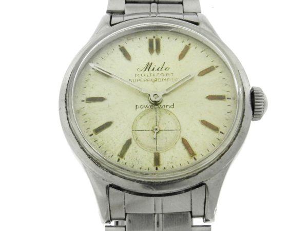 8e6c217ad95 Relógio Mido Multifort Super Automatic Vintage - Caixa e pulseira em aço -  Tamanho da caixa 33.5mm - Funções  Horas